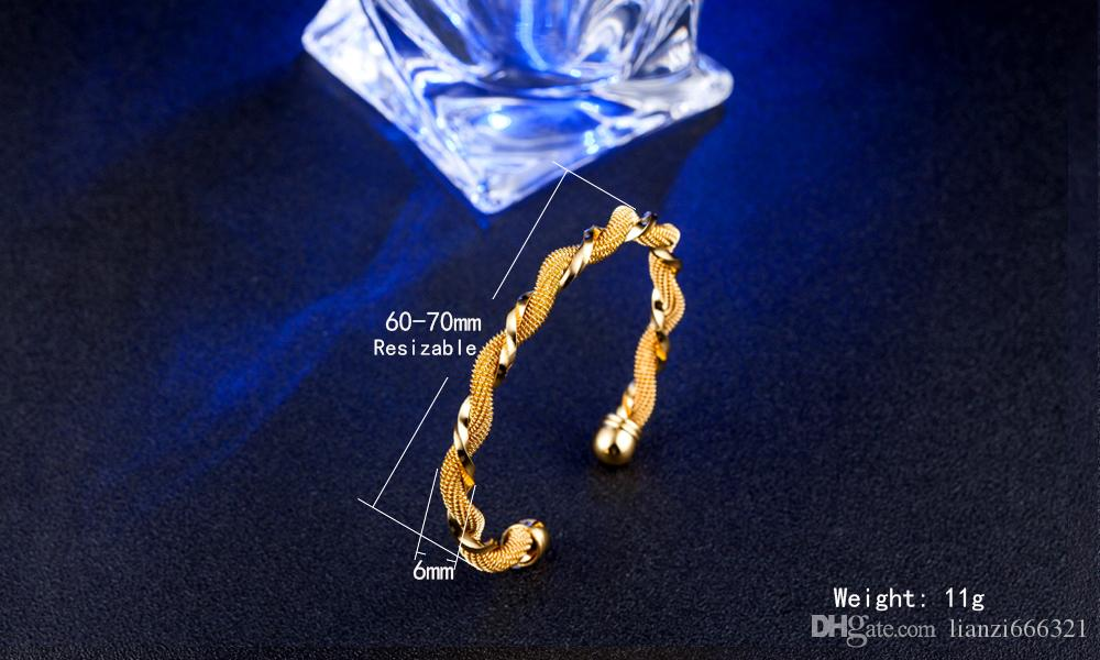 / chaud cadeau prix usine 925 breloque en argent bracelet torsadé bracelet en or 18 carats bijoux de mode 1822