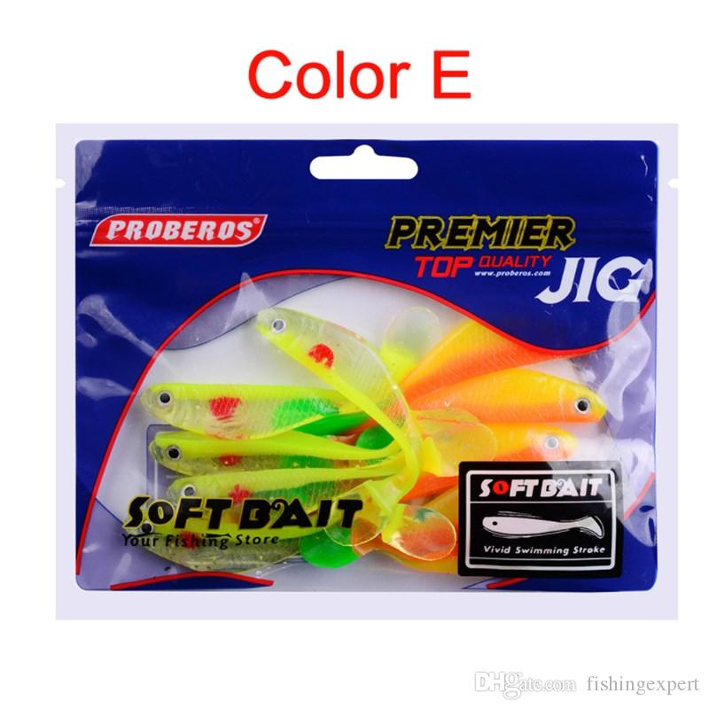 Top Quality Soft Body Fake Bait T Tail Soft Silicone Fishing Lure 8.8cm 4.5g Lifelike Shad Lure Bait for Saltwater