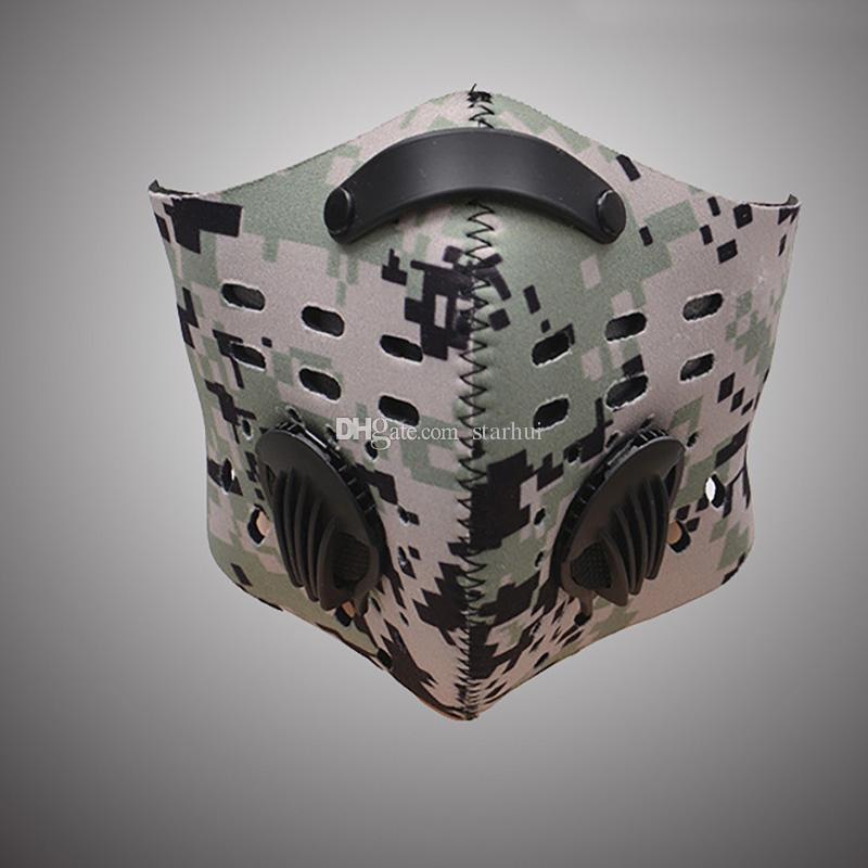 Новая маска для лица мужская защитная маска спортивные дышащие угольные фильтры велосипедная пыль смог защитная половина лица неопреновая Маска PM2.5 DHL WX9-161