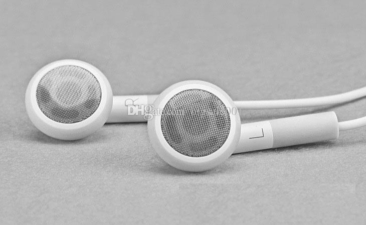 Earphone with Mic For apple iPhone 6 plus 5S 5 5C 4 4S 3GS white color with best quality wholesale