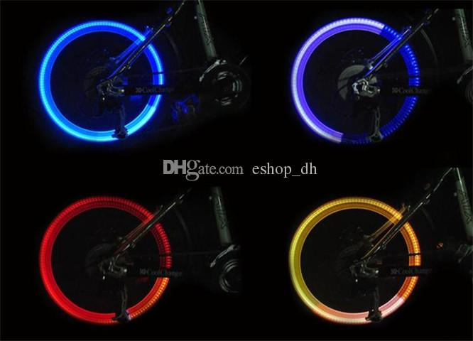 Bike Bicycle Cycling Silicone Head Front Rear LED Flash Wheel Light Lamp 95#