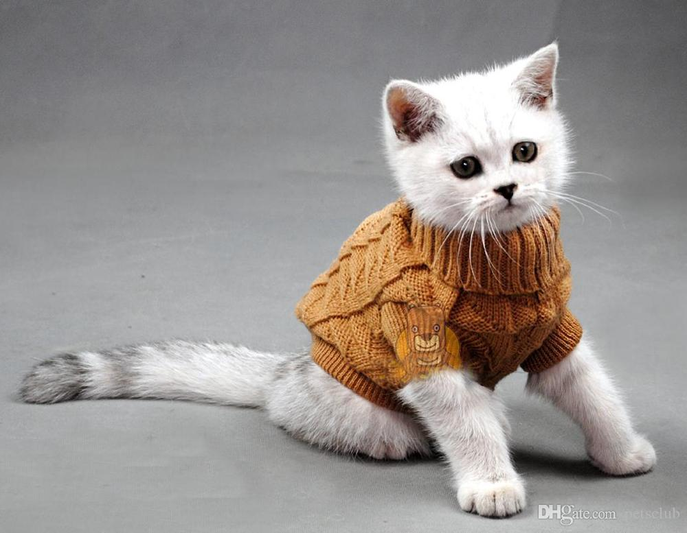 Beautiful Cat Sweater Knitting Pattern Ornament - Knitting Pattern ...