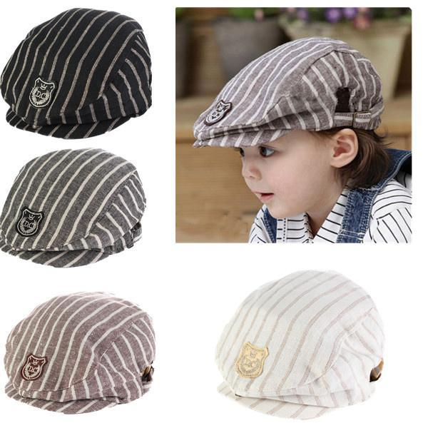 2291ff7c2d740 Popular Lovely Design Handsome Plaid Casual Hat Cute Baby Cap Kids Boys  Girls Hats Newborn Photography