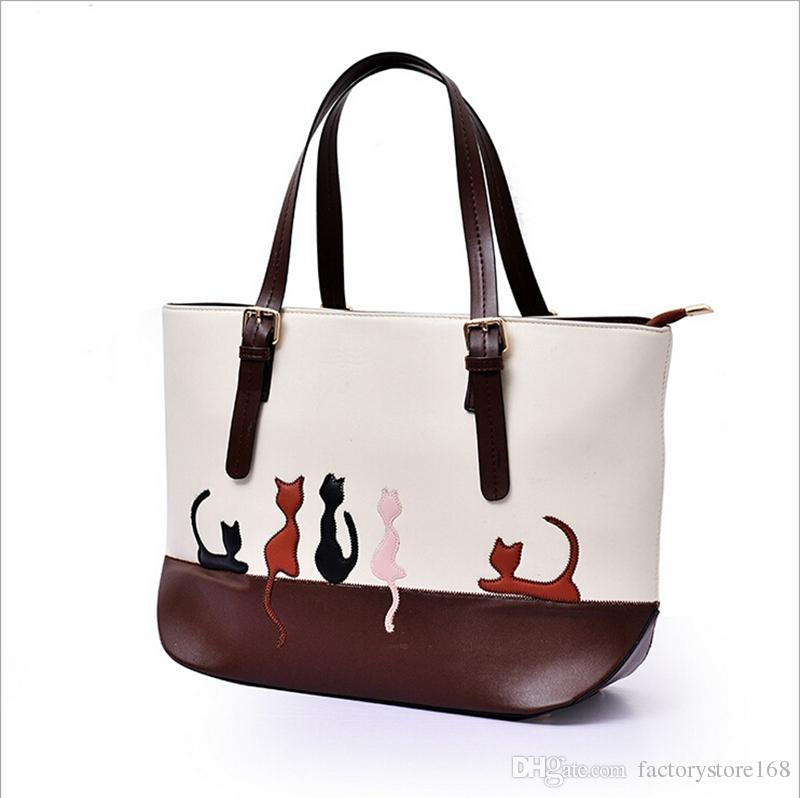 1157581e2a5 Cat Purses And Handbags For Women Designer Cute Leather Satchel Tote Purse  Fashion Office Shoulder Bags Handbag Sale Handbag Brands From  Factorystore168