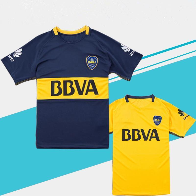new concept bb4b9 49ab7 2018 Boca Soccer Jersey 2017/18 Boca Junior home Soccer Jerseys 17 18  Argentina Club Football Shirts Thai Quality away yellow Jeresys