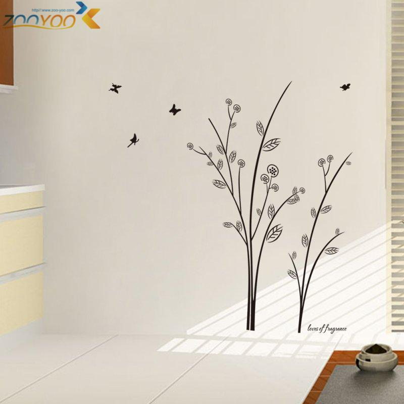Vinyl Tree Wall Stickers Home Decorations Zooyoo8228 Living Room Design  Home Decoration Sticker 3d Removable Vinyl Wall Decals Art Deco Wall  Stickers Art ...