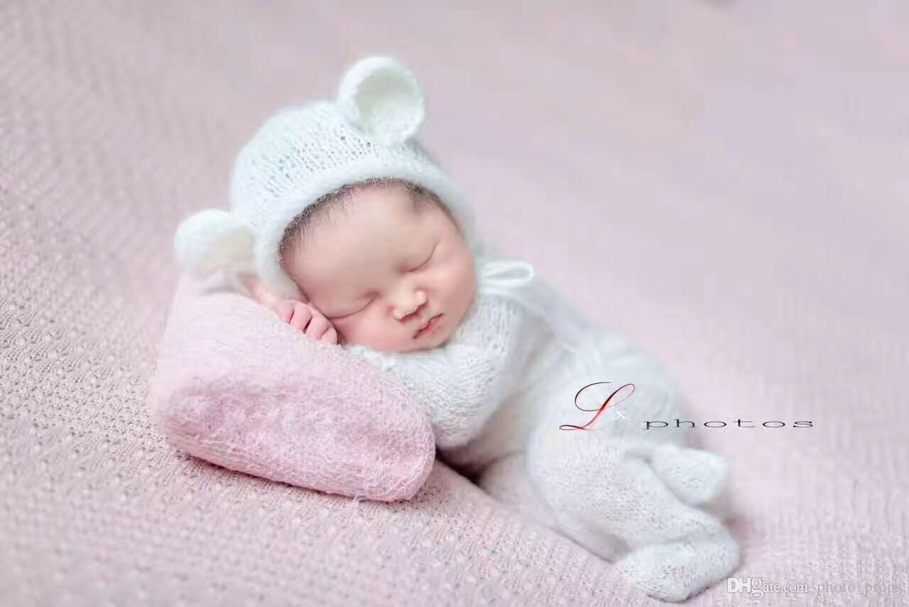 Großhandel Neugeborene Häkeln Mit Kapuze Strampler Baby Overall Foto