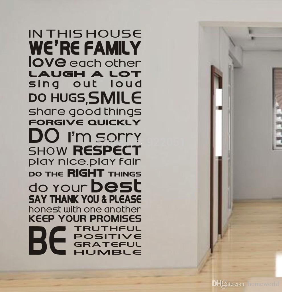 We Love Each Other: In This House We Are Family Love Each Other...Large Wall