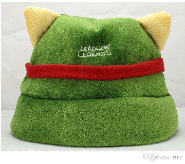 League of Legends cosplay cap Hat Teemo hat Plush+ Cotton LOL plush toys Hats
