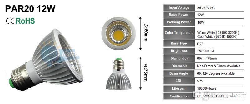 عكس الضوء بقيادة مصباح الأضواء par38 par30 par20 85-240V 12W 24W 36W E27 قدم 20 30 38 LED إضاءة بقعة مصباح ضوء النازل 20