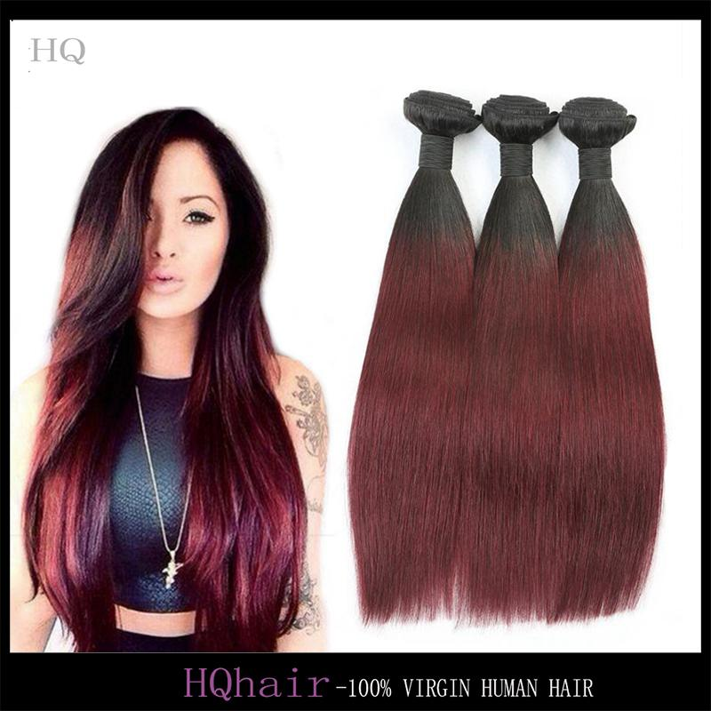 Ombre hair extensions two tone brazilian hair weave 1b99j see larger image pmusecretfo Image collections