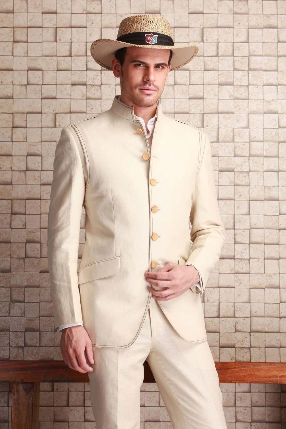 2016 Men Wedding Suits Groom Coat Tuxedo Blazer Trouser Indo ...