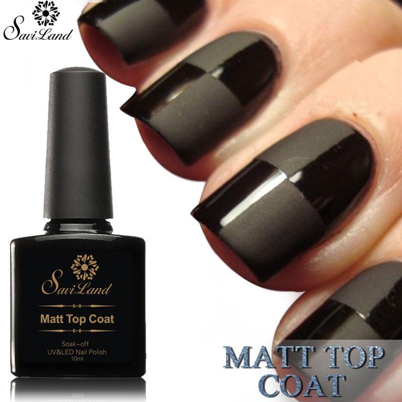 Saviland 10ml Matt Matte Top Coat Uv Led Nail Gel Polish Uv Gel ...