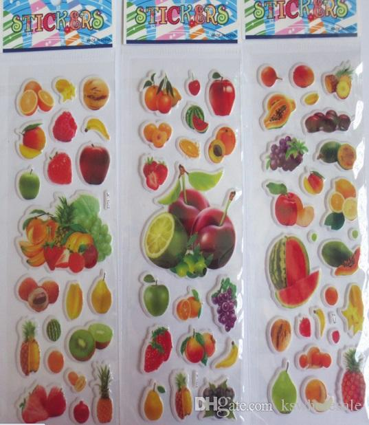 2019 Fruit And Vegetables Stickers For Kids Children