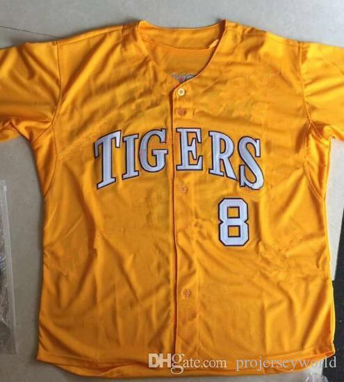 LSU Tigers College Baseball CWS Purple Gold White DJ LeMahieu Alex Bregman Nola Gausman All Stitched Any Name & ANY Number Baseball Jerseys