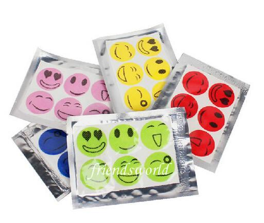 6000 PCS (1 Packs=6 pcs) Free Shipping,Anti Mosquito Repellent Sticker Patch Citronella Mosquito Killer Smiling Face Drive Midge