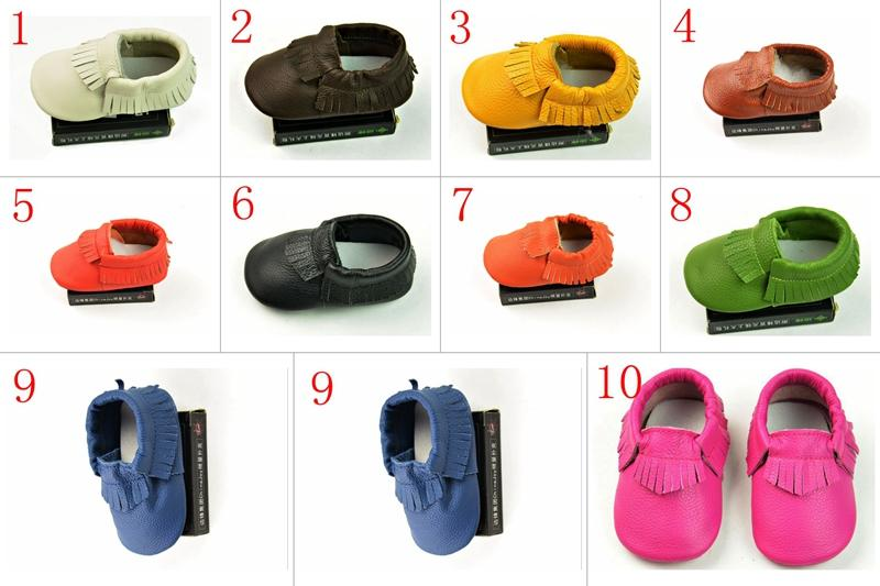 baby first walker shoes tassel Pure color Newborn baby moccasins soft leather moccs baby booties toddler kids child infant shoes with fringe
