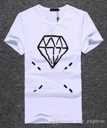 Top Express Men's cotton T-shirts Diamond Print good quality tshirt Summer t shirt Men brand clothing Tees