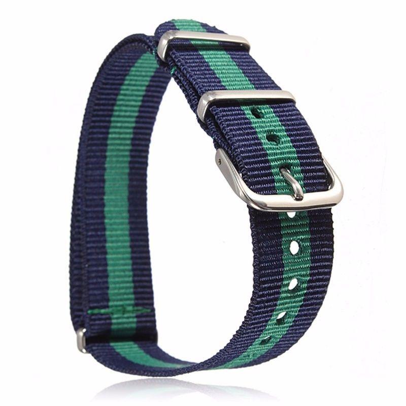 1 unids 20 mm delgado militar balístico correa de reloj de nylon deportes duraderos Zulu Nato reloj de pulsera Band G10 correa envío gratis