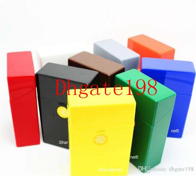 Fashion SharpStone for smoking herb grinder Cigarette Holder Tobacco Storage Case Gift New Fashion Plastic sharpstone Cigar Cigarette Box
