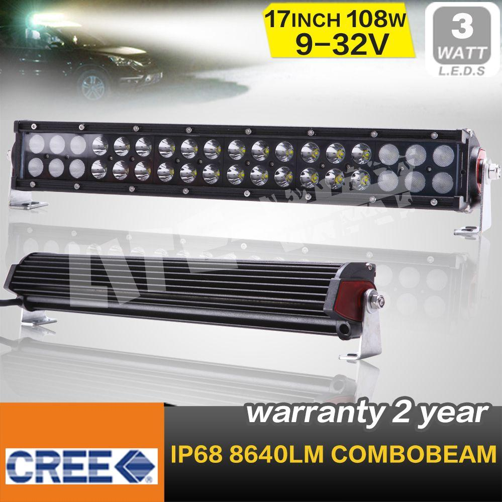 17 PULGADAS 108W CREE LED LIGHT BAR LED luz de conducción COMBO DE OFF ROAD 4x4 ATV UTV USO Seckill 60W / 100W