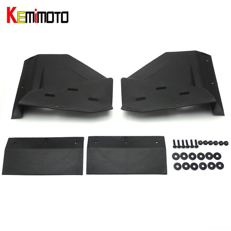 Wholesale- KEMIMOTO Black Front Mud Flaps for polaris RZR XP & 4 1000 2014  2015 2016 2017