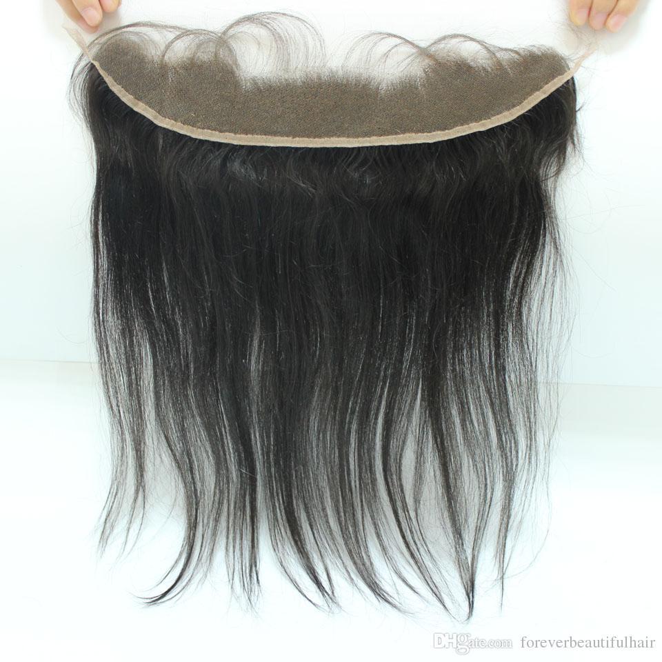 페루 레이스 정면 폐쇄 인간의 머리카락 13x2