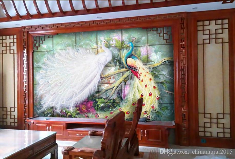 Tapeten Wohnkultur für Kinder Millennium Love 3D Wallpaper benutzerdefinierte Wandbild Pfau