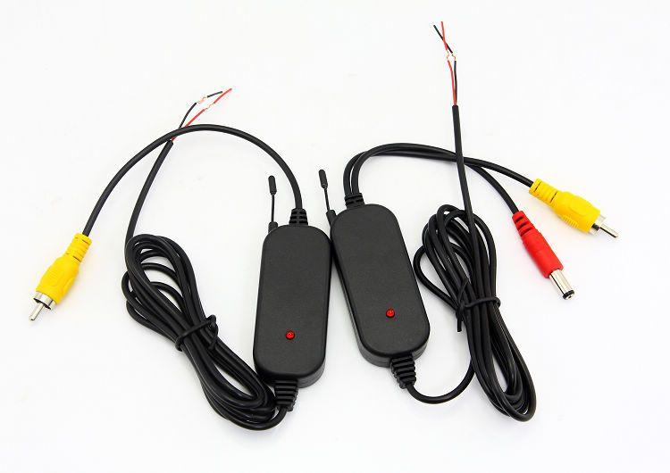2.4 Ghz Receptor de video inalámbrico Receptor Kit para cámara de visión trasera Cámara de marcha atrás Cámara de coche Reproductor de DVD GPS con puertos RCA
