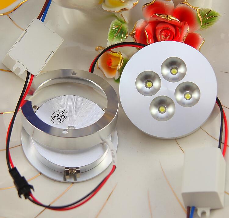 4X1W AC85-265V LED Koboldlicht für Kabinettschaukastenanzeigen-Gegenstab beleuchtet Handelsbeleuchtung 13mm ultra-dünnes Aluminiumoberteil /