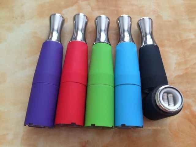 Dual Coil Skillet Vaporizer Wax Coil Vaporizer Colorful Skillet Vaporizer Atomizer for EGO D Series Ego-T Ego-vv EVOD Electronic Cigarette