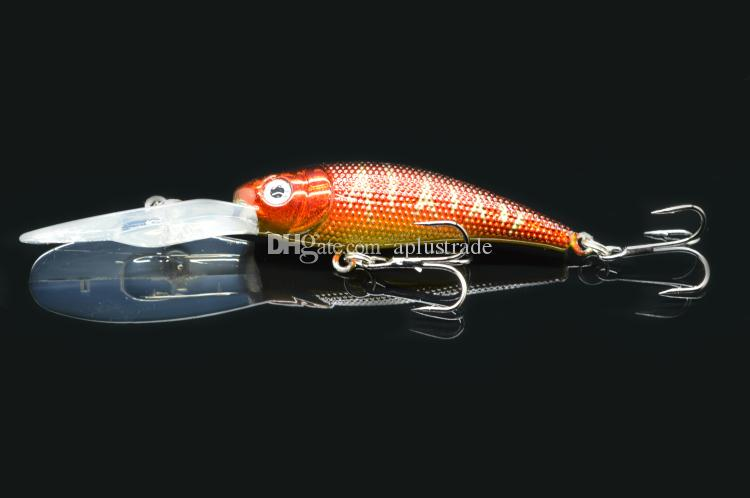 a 10cm 7.5g Minnow Fishing Lures Hard Bait Plastic Laser Pesca Isca Artificial Fish Fishing Tackle