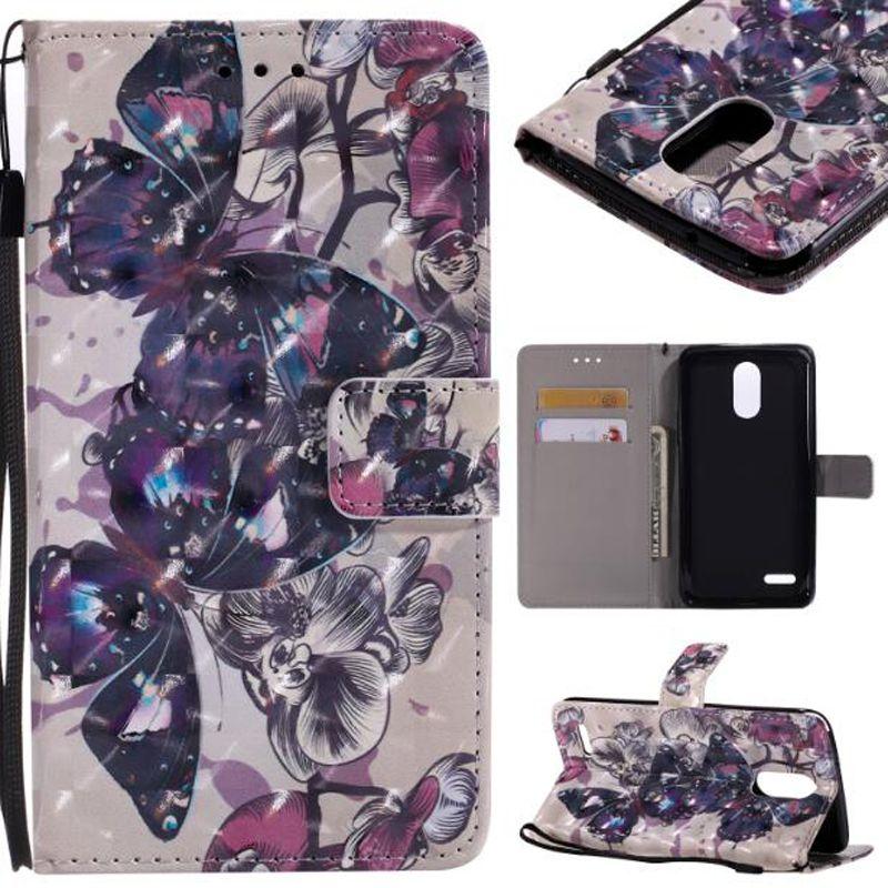 Baskılı çevir Cüzdan Standı kelebek gül kız Baskılı LG LS775 için flip Leat / stylo 2 artı stylo 3 artı MOTO G4 oyun sony Z3 Z5 E6 XA U