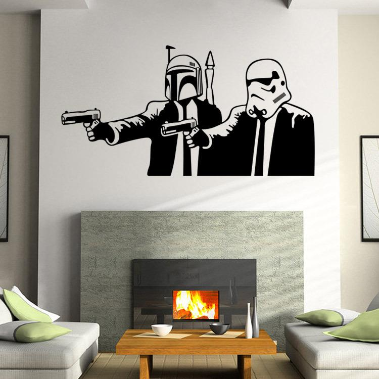 Star Wars Wall Stickers Wall Decals Diy Home Decoration Wall Mural  Removable Bedroom Sticker Wall Stickers Decor Wall Stickers Decoration From  Elizafashion, ... Part 39