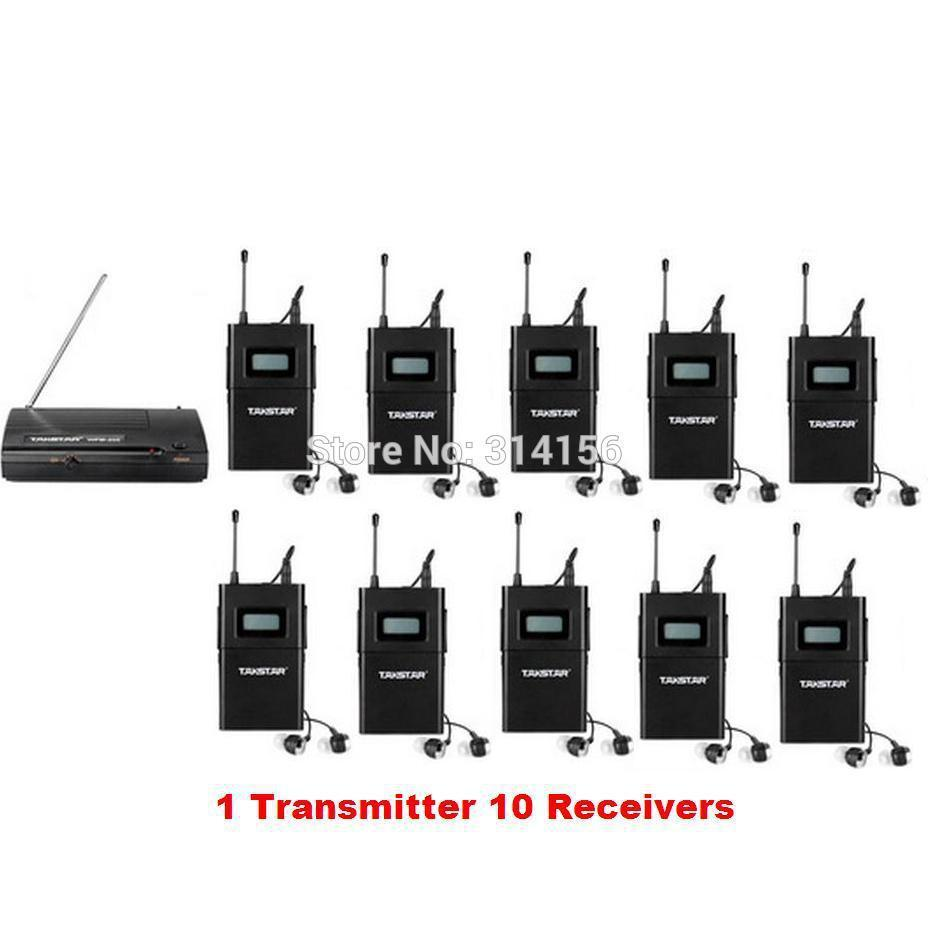 takstar wpm 200 wpm 200 wireless monitor system uhf in ear stereo wireless headset stage. Black Bedroom Furniture Sets. Home Design Ideas