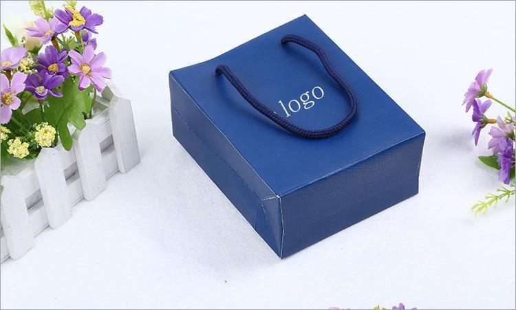 Vendita calda Marchio famoso marchio bracciale e anelli e orecchini scatole set con sacchetto originale di marca velluto Pouch swa imballaggio Scatola regalo blu