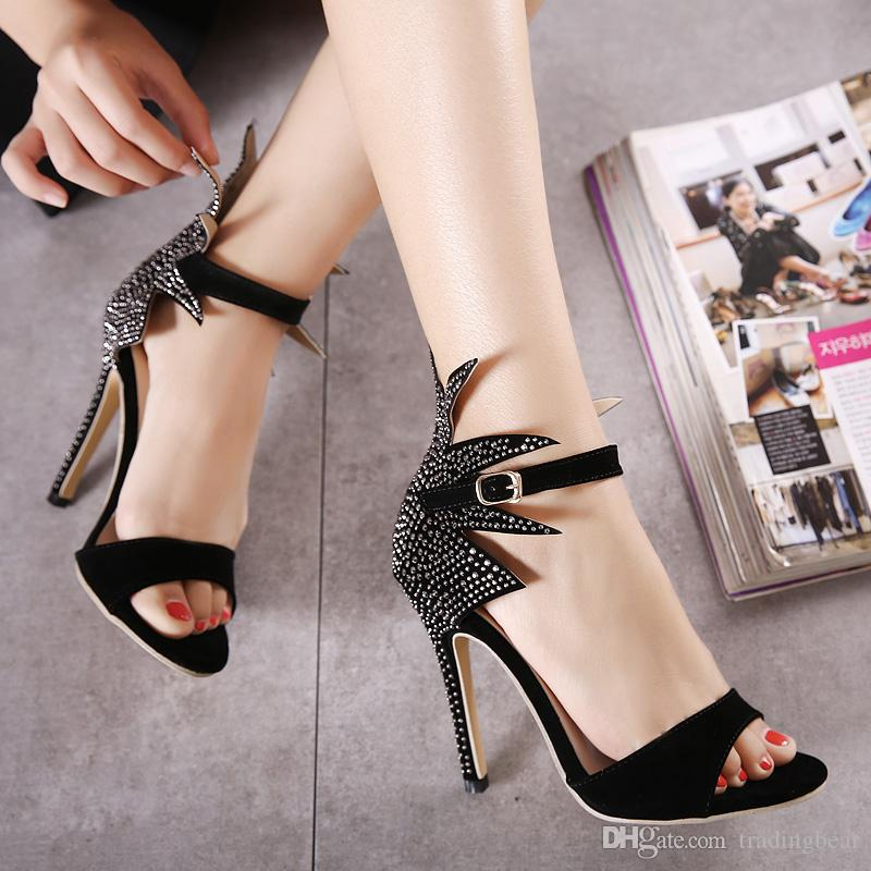 Milan Fashion Show Sexy High Heels Sandals Designer Shoes Women ...