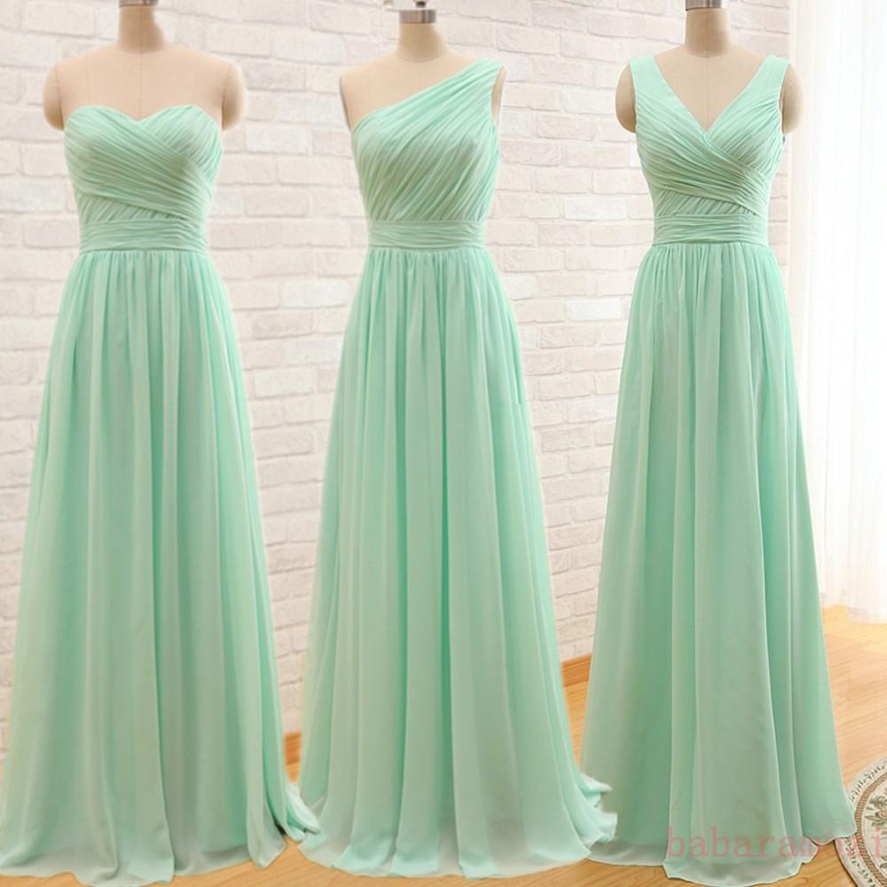 Mint green bridesmaid dress chiffon convertible junior maid of see larger image ombrellifo Image collections