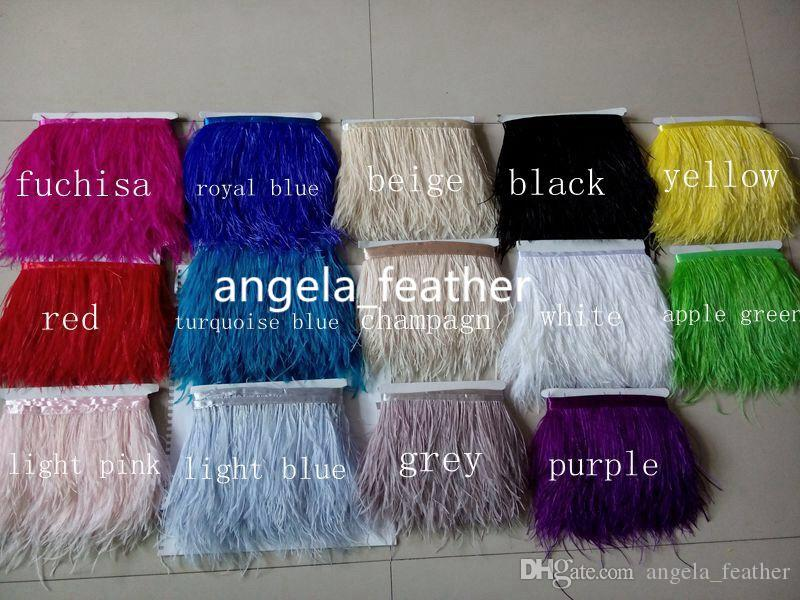 Factory Direct 10 yardsRoyal Blue Ostrich Feather Trimming Fringe 5-6inch/12-15cm dress decoration party supplies