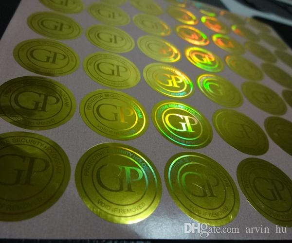 Cambiamento di colore design3D gratuito! Stampa di etichette adesive ologrammo personalizzate, con numero seriale / univoco e rivestimento antigraffio