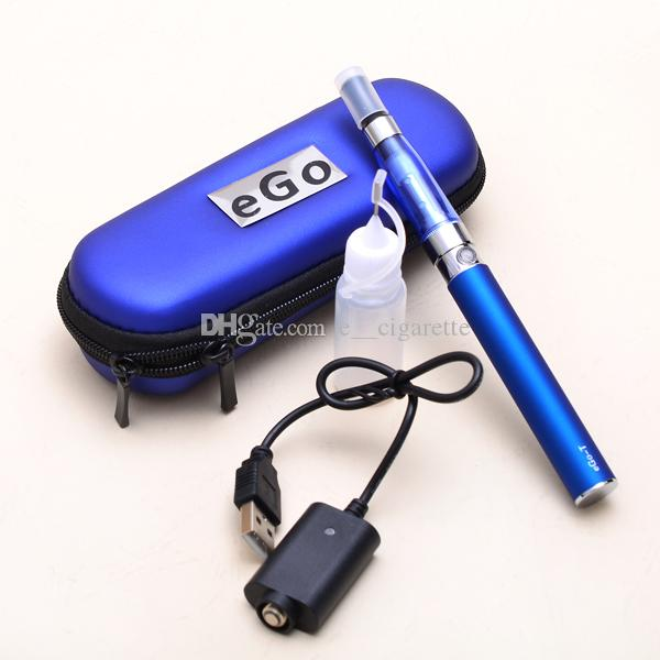 Ego starter kit CE5 no wick atomizer Vapor tank vapor ecig cigarette Electronic cigarette EGO-T Zipper case Clearomizer ecig starter kit