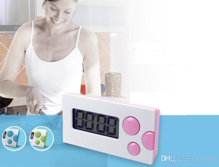 Новая мода Таймер обратного отсчета 99 минут 59 секунд ЖК-Цифровой Лаборатории / Кухня Мини-Таймер Реле Цифровой ЖК-Таймер