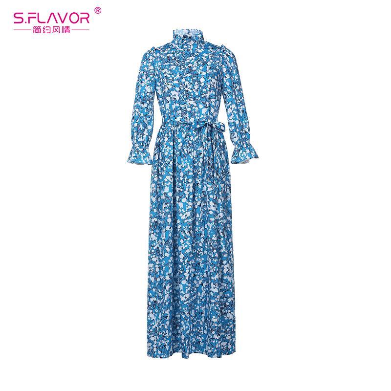 Compre S.Flavor Mujeres De Estilo Bohemio Vestido Largo 2018 ...