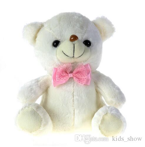 20-22 cm colorful LED Flash Light Bear Doll Plush Stuffed Toys Bear Gift For Children Christmas Gift