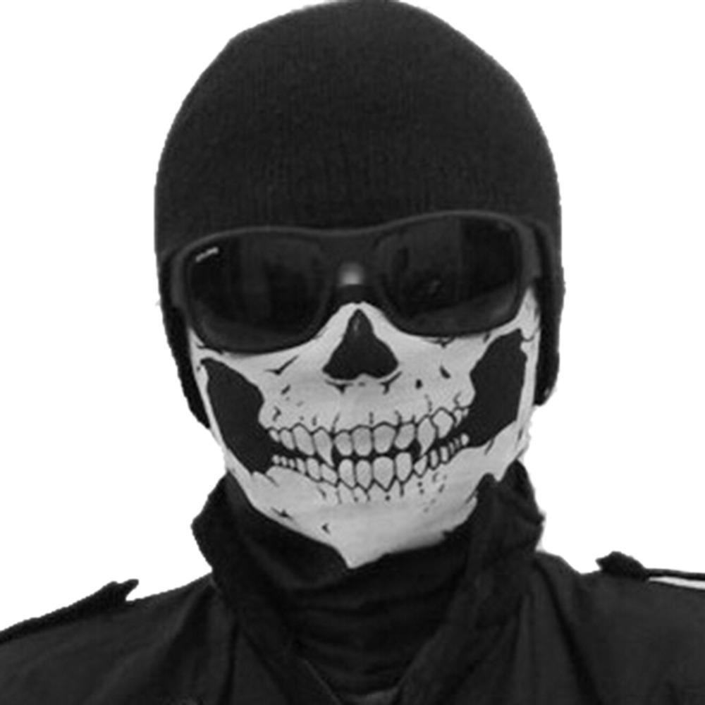 Motorcycle Bike Face Mask Ghost Skull Multi Functional Headwear ...