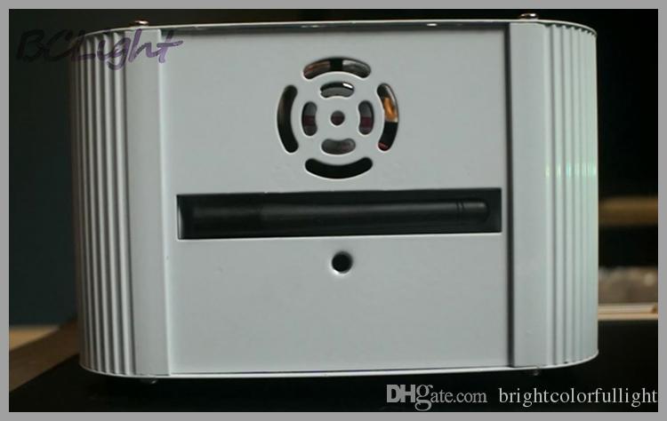 10 pezzi + 1 cassa / lotto mosca Controllo DMX wireless RGBWA + UV 6x18W illuminazione led wash Controllo IR a led a batteria con luce par