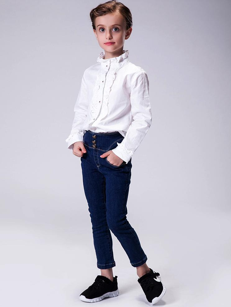 Baby Clothes Elastic Waist Kids Jeans Girls Denim Pants Kids ...