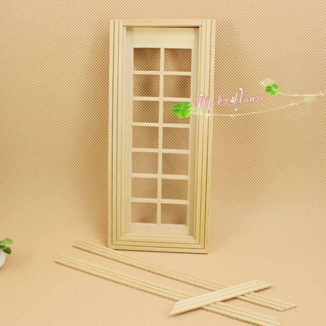 2017 1:12 Scale 14 Panel French Glass Door Dollhouse