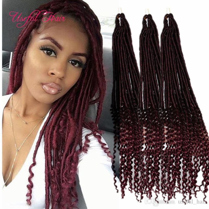 Protective Natural Hairstyles Half Deep Wave Goddess Crochet Braids