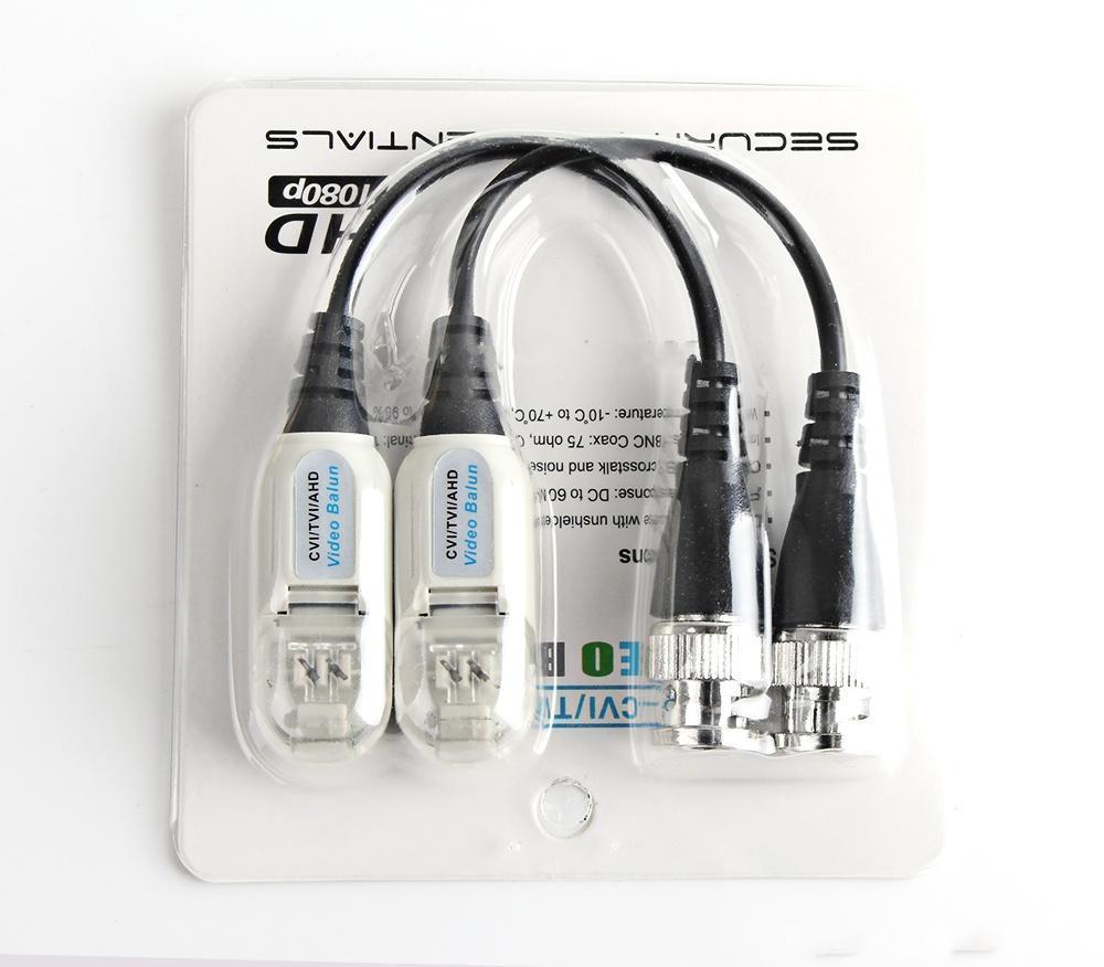 BNC Connector High Definition BNC To UTP Video Balun HD Transceivers Adapter Transmitter Support 720P/1080P,AHD/CVI/TVI Camera Waterproof